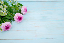 Gerbera Flower With Pink And W...