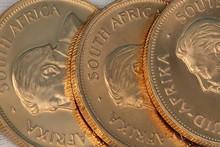 Closeup Of Gold Coins
