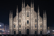 Aerial View Of Milan Cathedral...