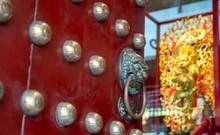 Singapore, January 16, 2020, Buddha Relic Temple With Singapore Urban City Skyline