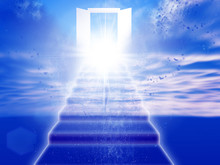 天国への扉が開く抽象...