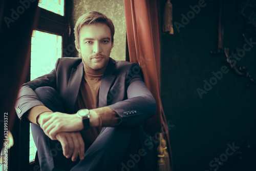 Fotografie, Tablou handsome rich guy