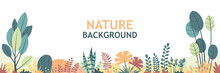 Flat Nature Background With Co...