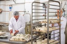 Baker Forming Dough For Baking...