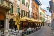 Old town street in Pordenone, Italy