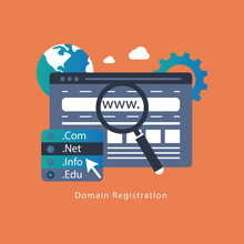 Domain Name Registration Concept