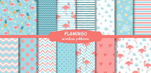 Pink Flamingo Seamless Pattern...