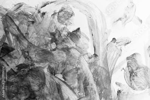 abstract black texture messy feeling background, mono tone of watercolor paintin Tapéta, Fotótapéta