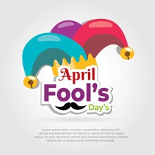 Flat Style April Fools Day. April Fools Day Background