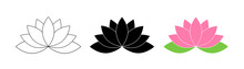 Lotus Flowers. Lotus In Flat D...