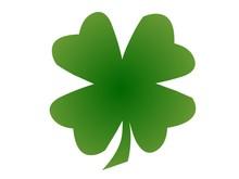 A Green Four-leaf Clover
