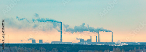 Fotografia, Obraz Smoke from the pipes of a metallurgical plant
