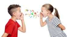 Children Shouting Out Alphabet...