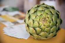 Freshly Picked Artichoke Exposed For Sale Healthy Mediterranean Food That Prevents The Appearance, Cholesterol Of The Vega Baja Of Alicante, Almoradí