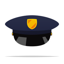 Police Hat Vector Isolated Ill...