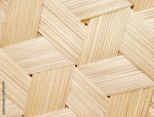 Cuadros en Lienzo Wood texture background , weaving patterns of bamboo crafts