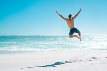 Jumping In Joy For Vacation