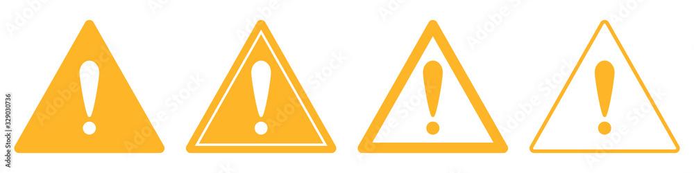 Fototapeta Triangular warning symbols with Exclamation mark.