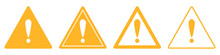 Triangular Warning Symbols With Exclamation Mark.
