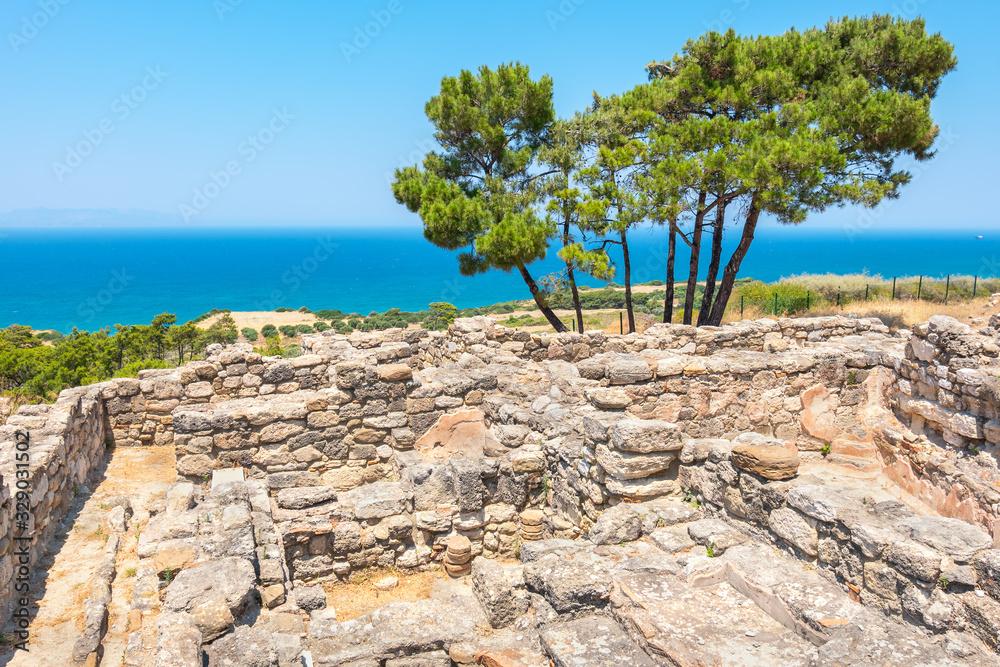 Fototapeta Kamiros ruins. Rhodes, Greece