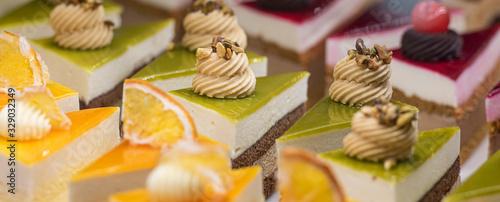 triangolino di torta assortiti Fototapete