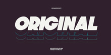 Vector Original Bold Font Whit...