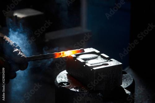 metals processed in a blacksmith shop Canvas Print