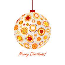 Christmas Ball Made Of Abstrac...
