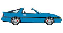 Illustration Of Old Japanese Car On White Background