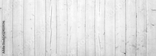 white vertical wooden planks - wood textur for rustic background - top view