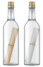 Message In A Bottle. Vector Il...