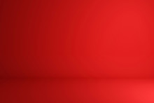 Blank Red Display On Vivid Summer Background With Minimal Style. Blank Stand For Showing Product. 3D Rendering.