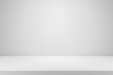 Blank White Gradient Backgroun...