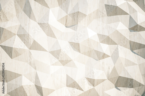 Fotografia Abstract brown polygon background.