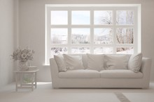 Mock Up Of Stylish Room In Whi...