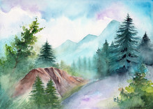 Watercolor Illustration Of  A ...