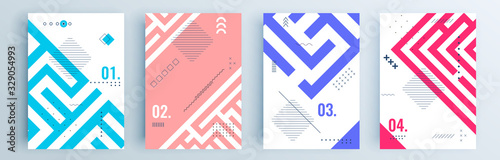 Fotografía Modern abstract covers set, minimal covers design