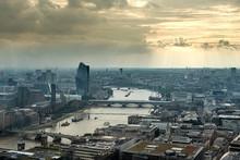 London Skyline Towards West End