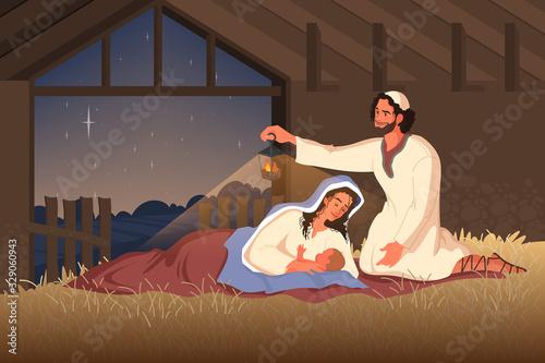Obraz na plátně Bible narratives about the Nativity of Jesus