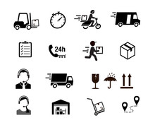 Set Of Express Delivery Icons....
