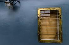 Bronze Porthole Of The Ship On...