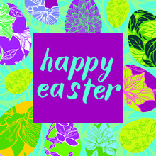 Hand Lettering HAPPY EASTER Ca...