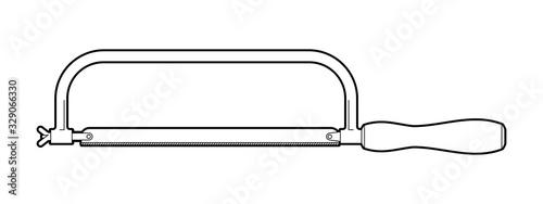 hacksaw for metal - illustration on a white background Tapéta, Fotótapéta