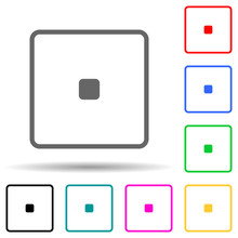Playing Zary One Multi Color Style Icon. Simple Thin Line, Outline Vector Of Web Icons For Ui And Ux, Website Or Mobile Application