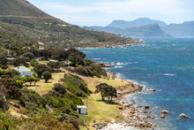 Cape Peninsula, Western Cape, South Africa. Dec 2019. Overview Of A Beach And The Coastline At Millers Point Along The Cape Peninsula, South Africa.