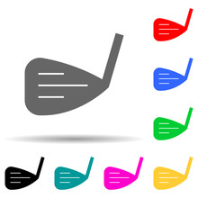 Golf Club Multi Color Style Icon. Simple Thin Line, Outline Vector Of Web Icons For Ui And Ux, Website Or Mobile Application