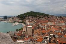 Split En Croatie Vue Aerienne