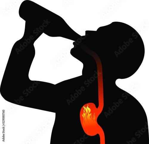 Photo alcoholism logo