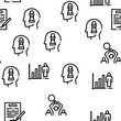 Strategy Manager Job Seamless Pattern Vector Thin Line. Illustrations