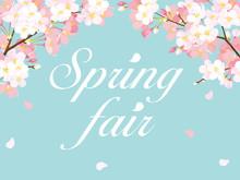 Spring Fair Poster, Sakura And...